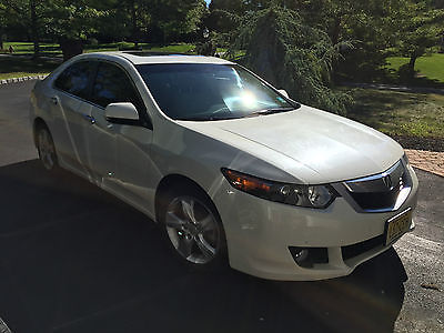 Acura : TSX Base Sedan 4-Door LOW MILEAGE 2010 White Acura TSX-$16,200