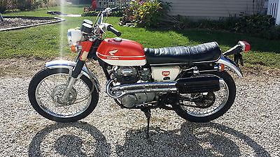 Honda : CL 1969 honda cl 350 scrambler 350 daytona orange