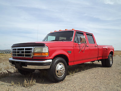 Ford : F-350 XLT 1996 ford f 350 xlt 7.3 diesel 5 spd crew cab dually grandad s truck make offer