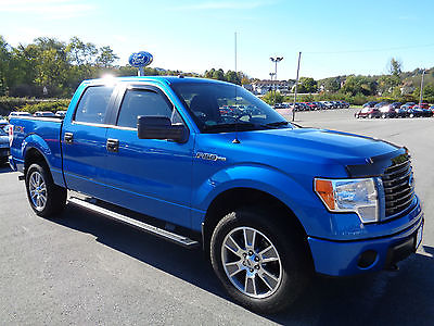 Ford : F-150 SuperCrew STX Sport 5.0L V8 4x4 Blue Flame 5934 Mi 2014 f 150 supercrew stx sport 5 k miles 4 x 4 blue flame video 5.0 l v 8 4 wd 1 owner