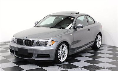 BMW : 1-Series CERTIFIED 135i M SPORT COUPE 135 i m sport 2012 27 k miles xenons paddle shifters premium 2 package 18 s spoiler