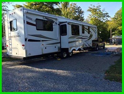 2012 KZ Stone Ridge 36RK 38' Fifth Wheel 4 Slide Outs Awnings King Bed Fireplace