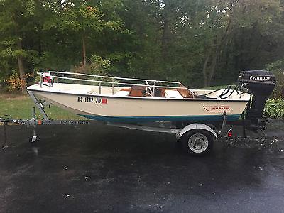1987 Boston Whaler 13' Super Sport SS Boat Evinrude 40 EZ Loader Trailer Nice