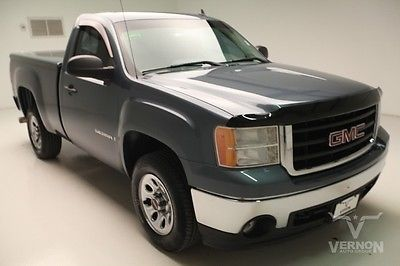 GMC : Sierra 1500 Work Truck Regular Cab 2WD 2008 black cloth mp 3 auxiliary v 6 vortec trailer hitch we finance 72 k miles