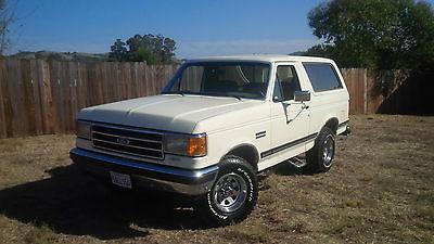 Ford : Bronco XLT 1990 ford bronco xlt sport utility 2 door 5.8 l beautiful conditon ca truck