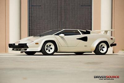 Lamborghini : Countach 5000 Quattrovalvole 1987 lamborghini countach 5000 quattrovalvole bianco perlato under 6 k miles