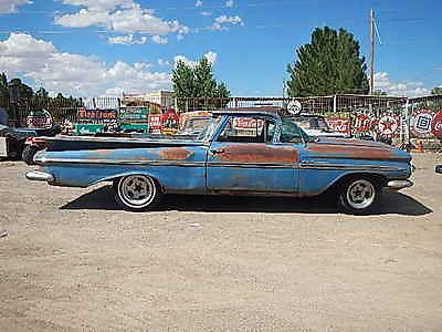 Chevrolet : El Camino EL CAMINO 1959 chevy elcamino cool patina barn find project car hot rat rod impala