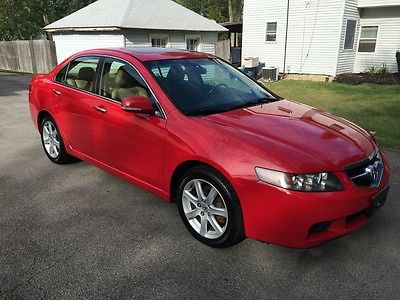 Acura : TSX Base Sedan 4-Door 2004 acura tsx 6 speed original owner