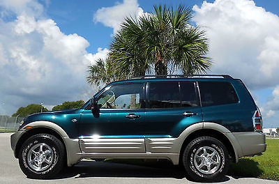 Mitsubishi : Montero CERTIFIED FLORIDA 2 OWNER LIMITED~4WD~3 ROWS!  RARE & SHARP SUV~SEQUOIA GREEN~RECORDS~LOADED~LEATHER~SUNROOF~02 03 04 05 4Runnr