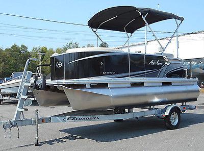 Brand New 2015 Avalon Eagle 16ft Pontoon Boat w/ Suzuki 25hp Outboard & Trailer