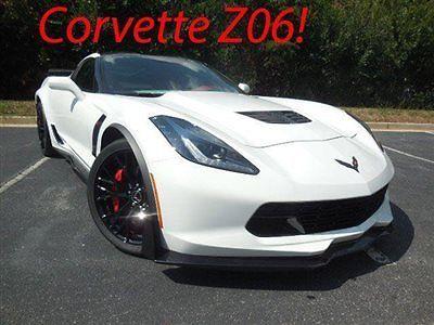 Chevrolet : Corvette 2dr Z06 Coupe w/2LZ Chevrolet Corvette 2dr Z06 Coupe w/2LZ New Manual Gasoline 6.2L 8 Cyl ARCTIC WHT