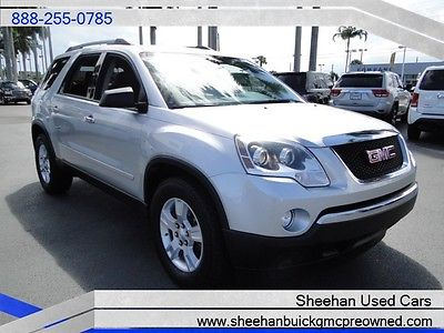 GMC : Acadia SL One Owner Florida Driven CLEAN Carfax SUV LOOK! 2012 gmc acadia sl clean car fax one owner florida driven certified
