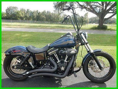 Harley-Davidson : Dyna 2013 harley davidson street bob apes exhaust air cleaner clean sweet