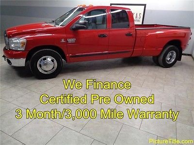 Dodge : Ram 3500 SLT 2WD Dually 07 ram 3500 2 wd dually quad cab 6.7 cummins diesel warranty we finance texas