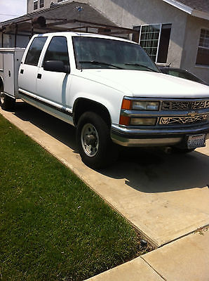Chevrolet : C/K Pickup 3500 c/k 1996 chevy c 3500 crewcab with utility bed and rack