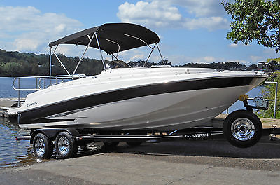 2013 Glastron DS 215 21ft Deck Boat 5.7L Volvo Penta w/ Trailer Freshwater Only