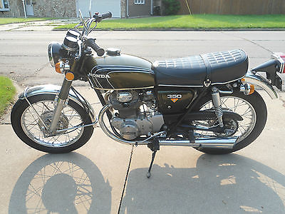 Honda : CB NO RESERVE 1972 Honda CB350 K4 Olive Green, LOW MILES - 6,891 miles, RUNS GREAT