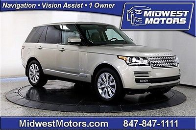 Land Rover : Range Rover HSE 2014 land rover range rover hse supercharged climate pack 1 owner