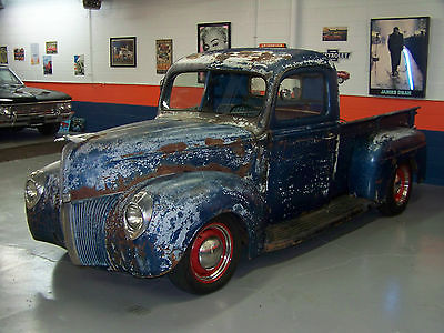 Ford : Other Pickups hot rod 40 41 49 ford f 100 rat rod 350 air ride original patina must see