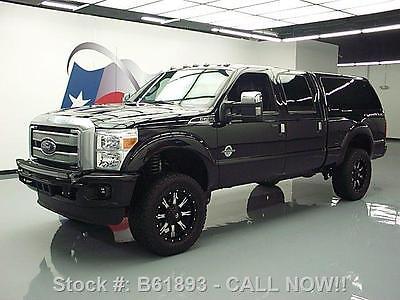 Ford : F-250 PLATINUM 4X4 LIFT DIESEL CAMPER SHELL!! 2014 ford f 250 platinum 4 x 4 lift diesel camper shell b 61893 texas direct