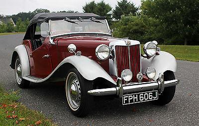 MG : T-Series 1953 mg td frame off restoration