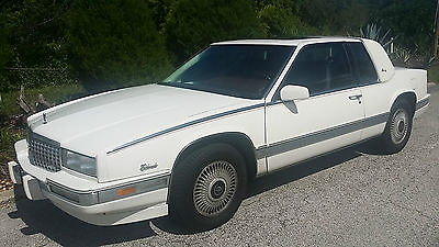 Cadillac : Eldorado Biarritz 1989 cadillac eldorado biarritz coupe white on white w security and auto start