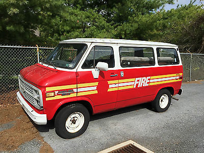 Chevrolet : G20 Van Van 1984 chevrolet chevy g 20 fire company equipment truck red white van