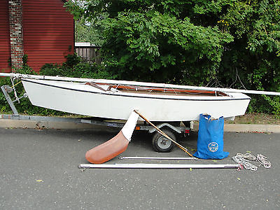 Blue Jay sailboat complete with rigging, sails and trailer - $1200 OR BEST OFFER