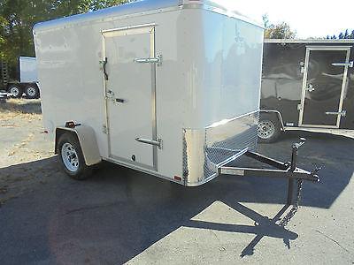 2016 LARK 6x10 enclosed cargo bike ATV utility camping trailer with ramp door