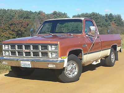 GMC : Sierra 2500 Grande 1981 gmc sierra grande pickup 41000 mi all original survivor 350 at orig paint