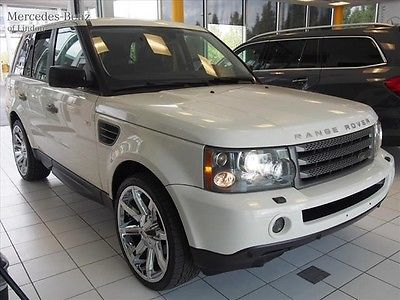 Land Rover : Range Rover HSE 2009 range rover sport luxury white black leather aftermarket wheels heated