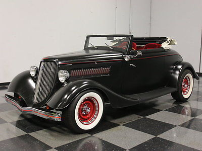 Ford : Other PROBUILT '34 ROADSTER, FORD 302 POWERED, AUTO, MUSTANG II CLIP, HEADERS, DUALS!!