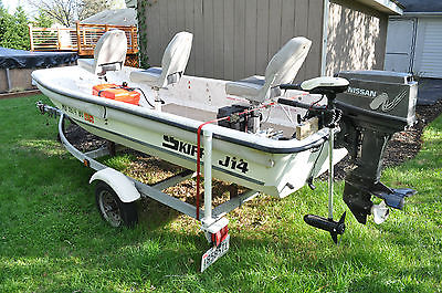 2005 CAROLINA SKIFF J-14 WITH OUTBOARD AND TRAILER