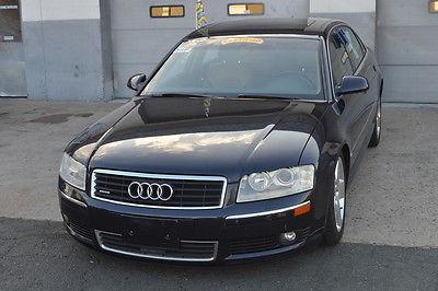 Audi : A8 L Sedan 4-Door 2005 audi a 8 l 4.2 l v 8 loaded blue sand beige awd quattro