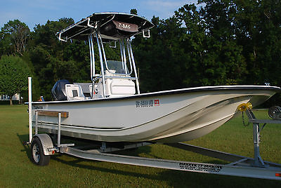 2013 Tidewater 19' modified V-Hull skiff Yamaha 4 stroke 50hrs next to NEW cond.