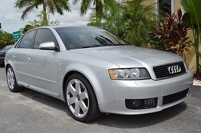 Audi : S4 Base Sedan 4-Door 2004 audi s 4 quattro awd 59 k miles 6 speed manual two tone suede leather
