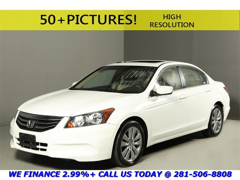 Honda : Accord 2012 ACCORD EX-L NAV SUNROOF REARCAM HEATSEAT WOOD 2012 honda accord ex l sunroof nav rearcam leather wood white 17 alloys
