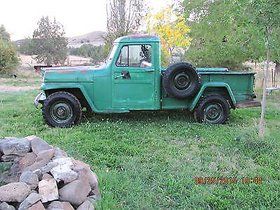 Willys : Pick Up 1 ton 4x4 Gopher Grinding Hill Climber 1960 willys pick up 1 ton 4 x 4 super hurricane 6 very stock and original
