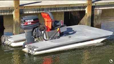 Custom Flats Boat, using Craig Cat pontoons, 50 yamaha