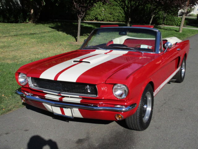 Shelby MUSTANG 1966 shelby gt 350 convertible 289 v 8 red red restored garaged super clean