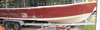 1969 Classic Aquasport FlatBack Hull ONLY Including Aluminum Trailer