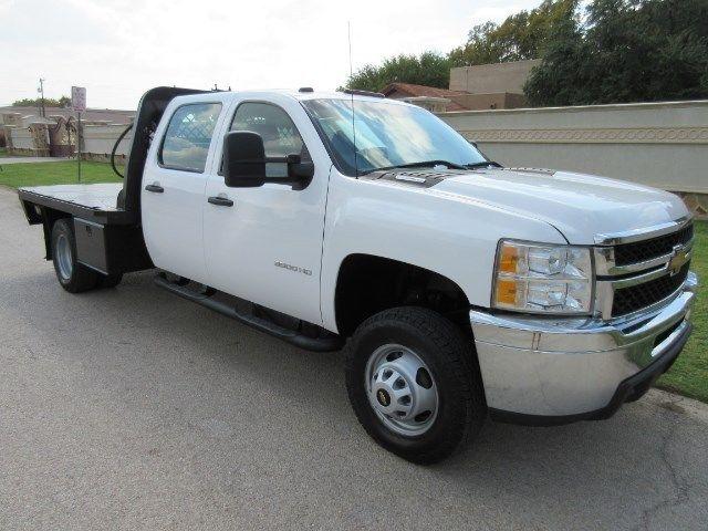 Chevrolet : Silverado 3500 Work Truck 2013 chev 3500 crew cab 4 x 4 duramax diesel flatbed