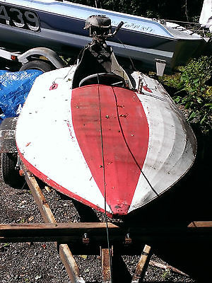 1940's-1960's Canvas topped Hydroplane Hydro Race boat