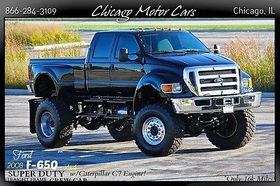 Ford : Other Pickups 4dr Crew Cab Pickup 2008 fors super duty f 650 custom truck goodyear airbags air brakes only 16 k mi