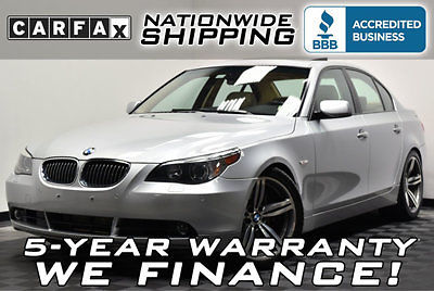 BMW : 5-Series 550i Loaded 550 78k Miles Navigation Sport Pkg + Cold Weather Leather Sunroof V8