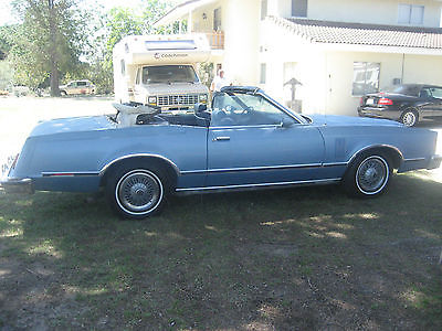 Ford : Thunderbird THIS IS NOT A HARDTOP-OTHER 1979 ford thunderbird convertible the car detroit never built actual barn find