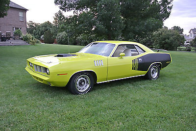 Plymouth : Barracuda Cuda 1971 440 6 plymouth cuda numbers matching real deal