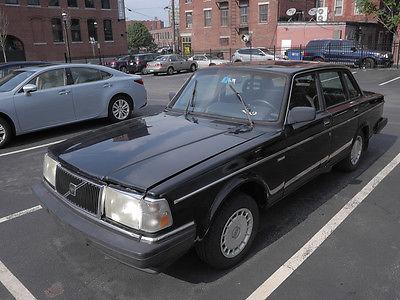 Volvo : 240 Base Sedan 4-Door 1991 volvo 240 project car 4 door black auto trans