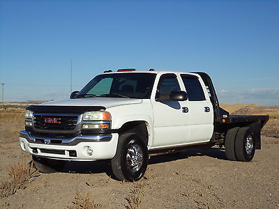 GMC : Sierra 3500 SLE 2004.5 gmc sierra 3500 crew cab duramax 4 x 4 lly flat bed dually make offer