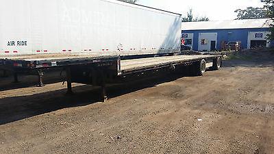 1996 Kaylyn Siebert Stepdeck Dropdeck trailer 48x102 spread axle air Alum Ramps